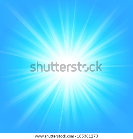 Blue and white abstract magic light background. Illustration for your majestic design. Element for web design. Bright wallpaper.