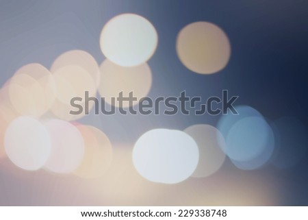 Blue and white bokeh background - stock photo