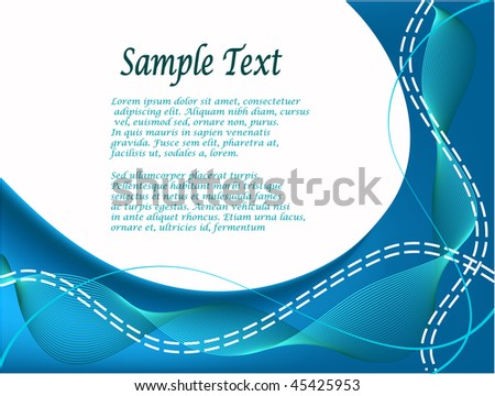 Blue white business card presentation template stock illustration blue and white business card or presentation template colourmoves