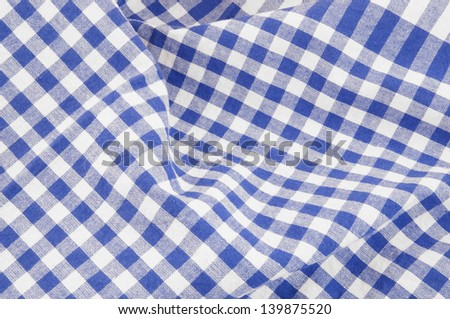 Blue And White Checked Tablecloth Background