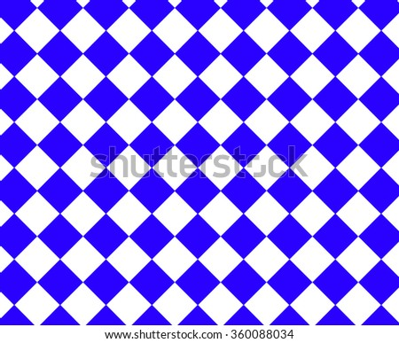 Blue and white checkered hypnotic pattern - stock photo