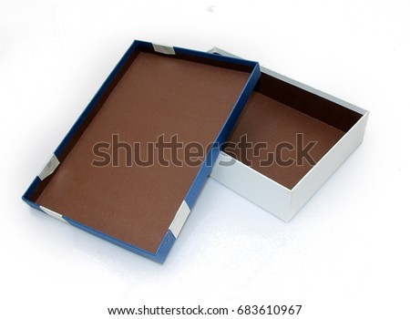 Blue and White Gift Box, Open Lid