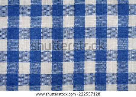 Blue and white linen fabric background.