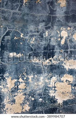 Blue and white painted concrete texture
