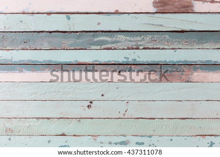 blue and white painted wood tiles background, old wood tiles - stock photo