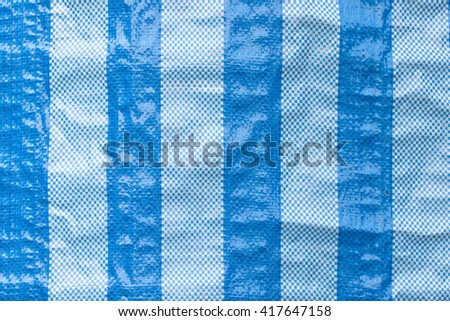 Blue and white strip background and texture, abstract art