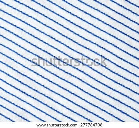Blue and white striped cotton polyester texture.