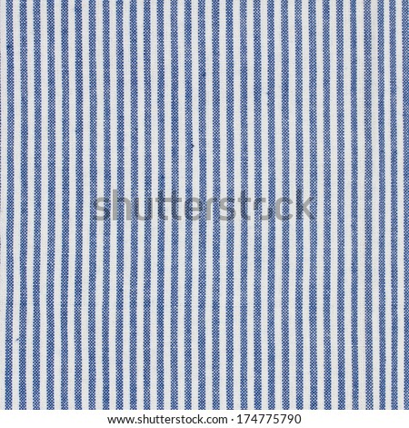blue  and white stripes  fabric closeup , tablecloth texture - stock photo