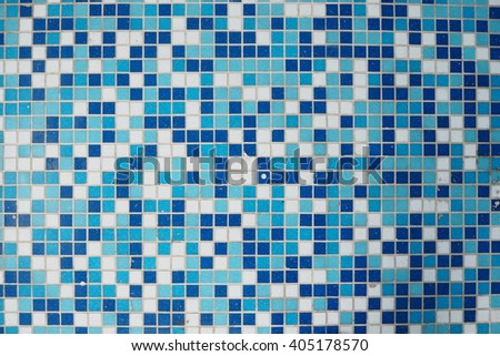 blue and white tile textures. - stock photo