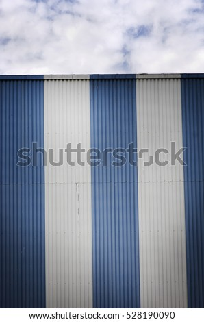 Blue and white wall background