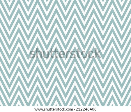 Blue and White Zigzag Textured Fabric Pattern Background that is seamless and repeats - stock photo
