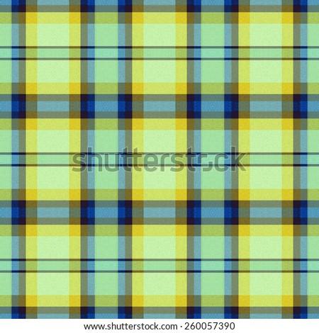 blue and yellow Tartan textile seamless background  - stock photo
