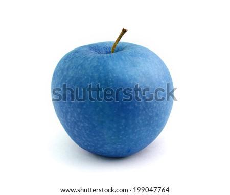 Blue apple - stock photo