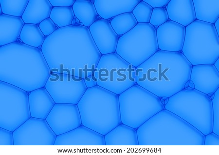 blue background from the cells or bubbles - stock photo