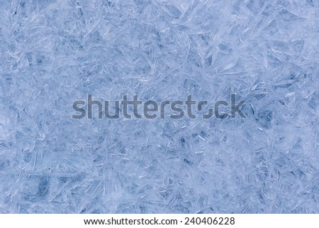 Blue background of cold frosty ice texture.  - stock photo