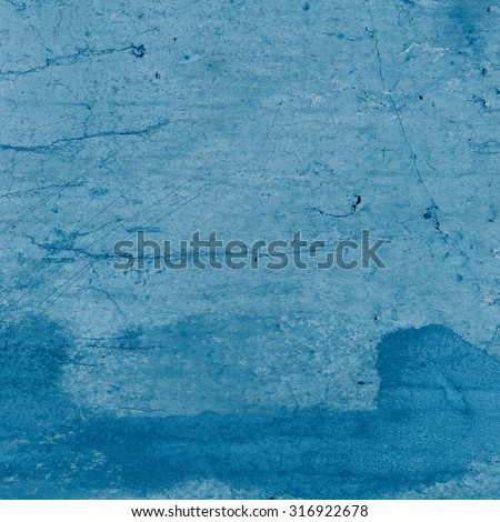 blue background painted wall texture, grunge background - stock photo