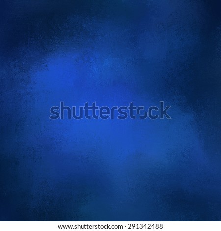 blue background texture paper, faint rustic black vignette grunge border paint design, solid blue sapphire color background - stock photo