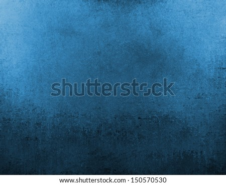 blue background texture with black vintage grunge design for brochure or website backgrounds - stock photo