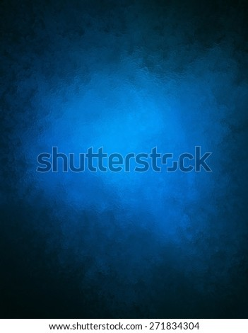 blue background with black border and glass or foil texture detail - stock photo