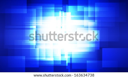 blue background with glowing crystal polygon