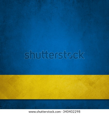 blue background with gold ribbon - stock photo