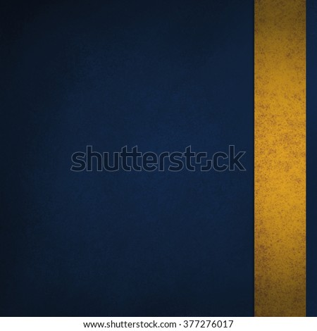 blue background with gold sidebar ribbon stripe