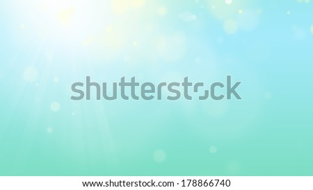 Blue background with lens flares - stock photo