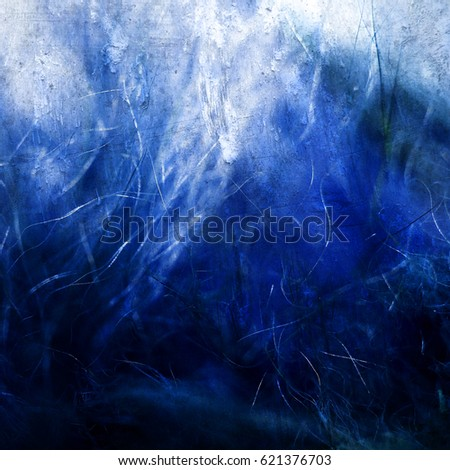 Blue background with scratches