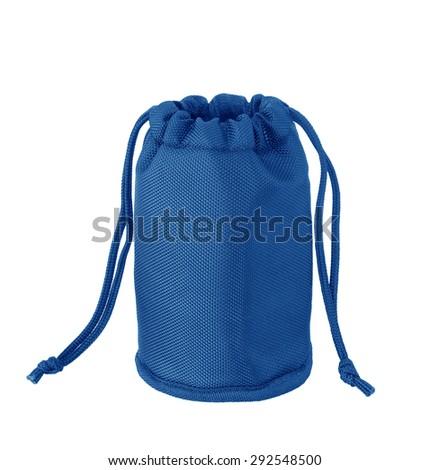 blue bag isolated on white background - stock photo
