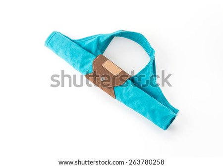 blue bag on white background