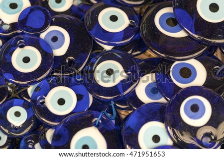 Blue bead eye, background
