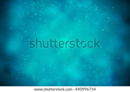 Blue beautiful space background with dark edges