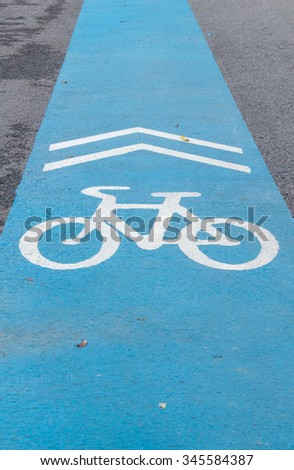 blue bike lane for safety cyclist