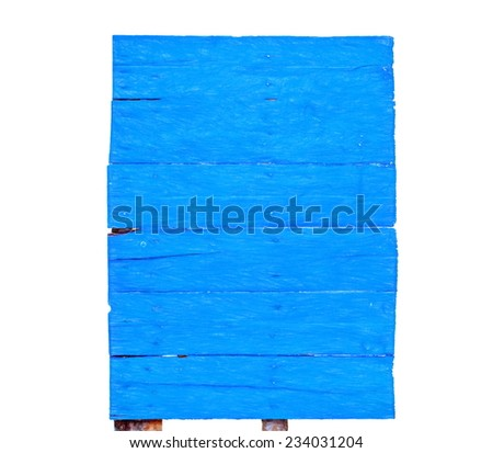 blue billboard  -- illustration based on own photo image - stock photo