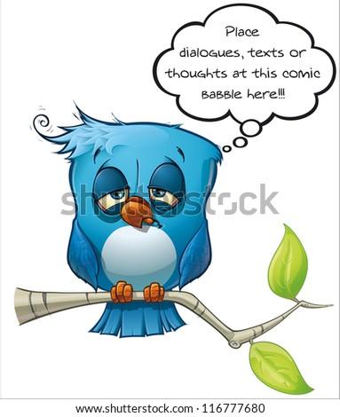 Blue Bird Hangover - stock photo