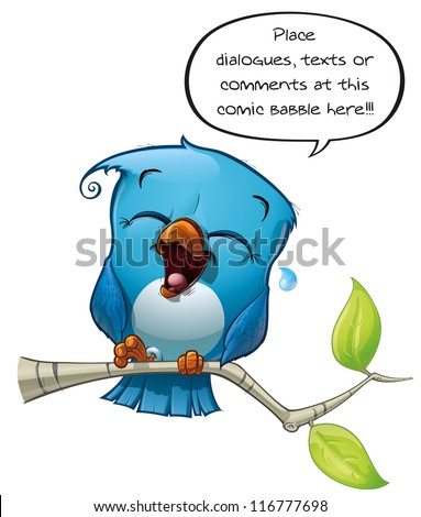 Blue Bird Laughing - stock photo
