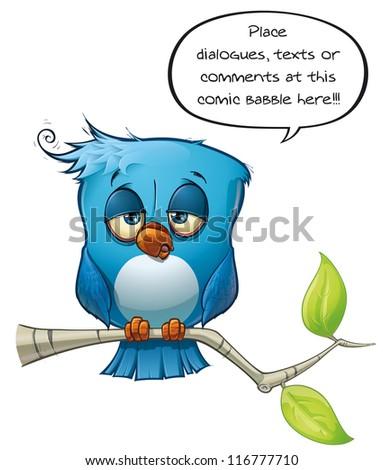 Blue Bird Tired - stock photo