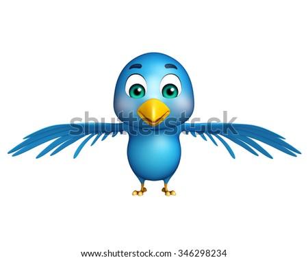 Blue bird twitter - stock photo