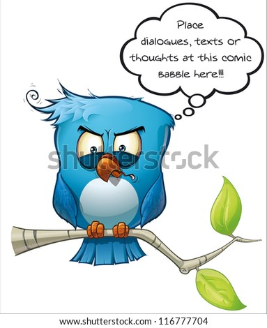 Blue Bird Vicious - stock photo