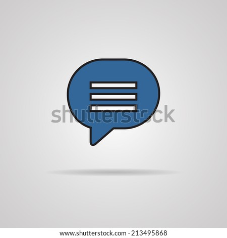 Blue blank map pin icon web button. - stock photo