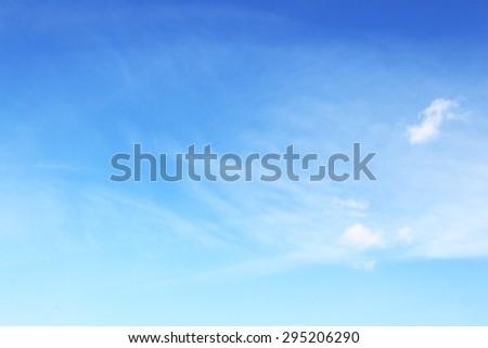 Blue blank sky - stock photo