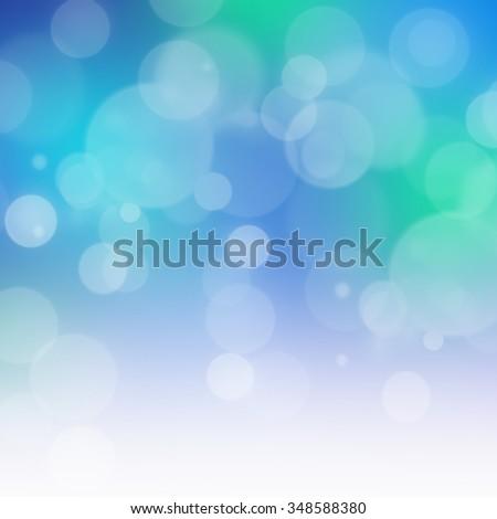Blue Blurry Lights - stock photo