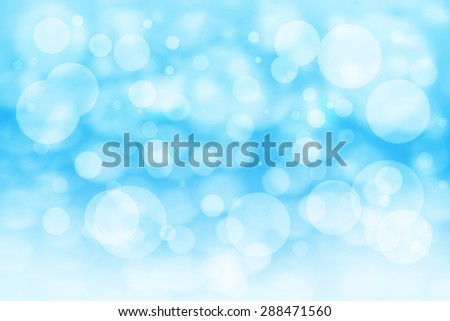 Blue bokeh abstact background texture