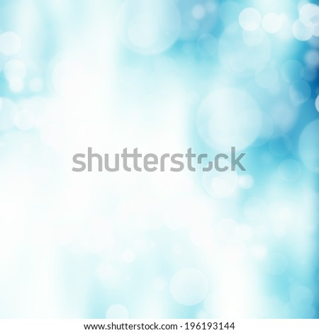 Blue bokeh abstract background - stock photo