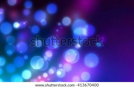 Blue bokeh abstract background. Christmas elegant abstract background with bokeh lights. bokeh background and wallpaper for Christmas and New Year. - stock photo