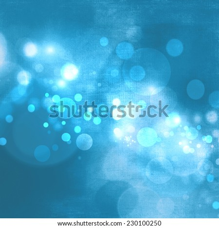 Blue bokeh abstract christmas background - stock photo