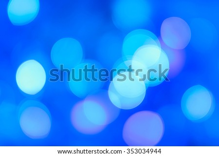 Blue bokeh abstract light backgrounds or Christmas background. - stock photo
