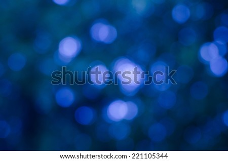 Blue bokeh background and texture