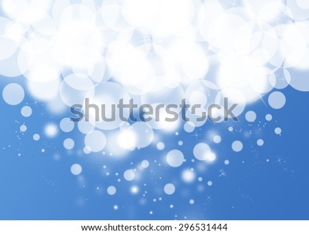 Blue bokeh drop glitter defocused lights abstract background