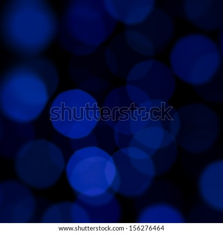 blue bokeh effect background - stock photo